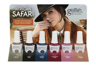 Gelish gellak African Safari display
