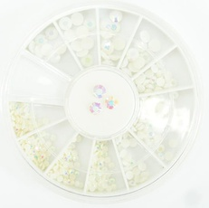 Strass in carrousel multicolor wit nr 133