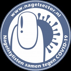 Nagelsector sticker Covid 19