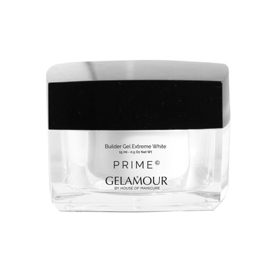 Gelamour Prime Builder gel Extreme White 15 ml